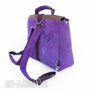 plecak plecaki fioletowe / torba liliowo-brązowa