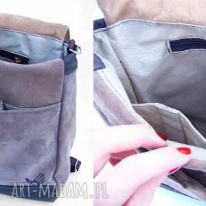 intrygujące plecaki zamsz plecak / torba żółty-beżowy-brązo