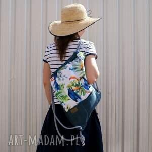 niebieskie plecak vegan troczek tukany morski