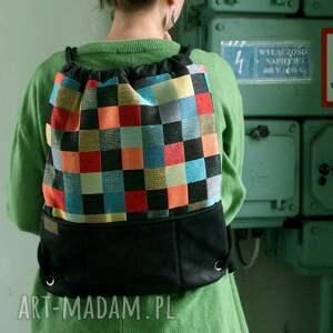 atrakcyjne plecak vegan mozaika czerń