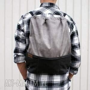 szare plecak vegan szary czerń