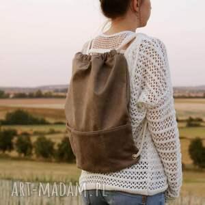 beżowe torba plecak vegan taupe
