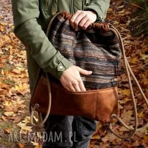 brązowe vegan plecak navaho koniak