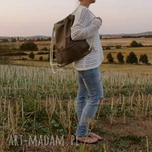 ManufakturaMMS Plecak vegan taupe - torba podróż