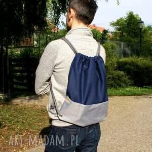 wyjątkowe plecaki plecak vege troczek granat szary