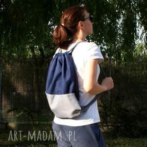 wyjątkowe plecaki torba plecak vege troczek granat szary