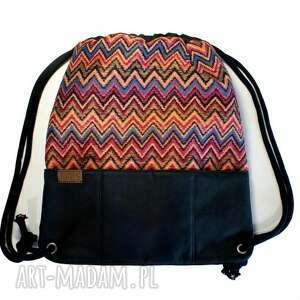 etniczny plecak vege etno czerń