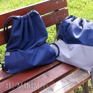 wyjątkowe plecaki worek plecak vege troczek granat szary