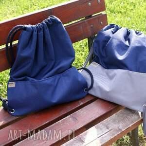 wyjątkowe plecaki lato plecak vege troczek granat szary
