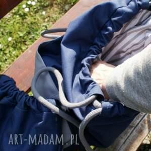 Plecak vege troczek granat szary - torba worek