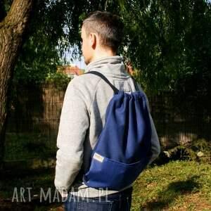 niebieskie plecaki vegan plecak vege troczek granat