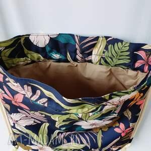 kolorowe worek plecak mini kwiaty