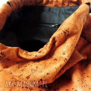 urokliwe plecak worek zamszowy