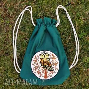 niesztampowe plecak worek z sową