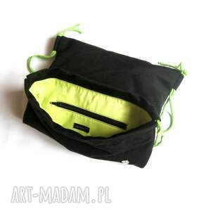 czarne plecak worek aksamitny
