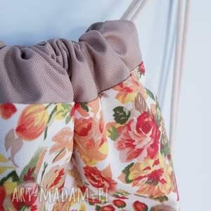 kolorowe worek plecak kwiaty