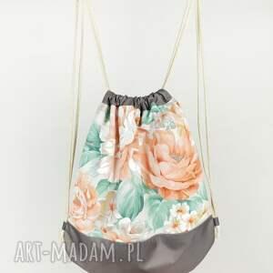 Zapetlona Nitka plecak worek kwiaty