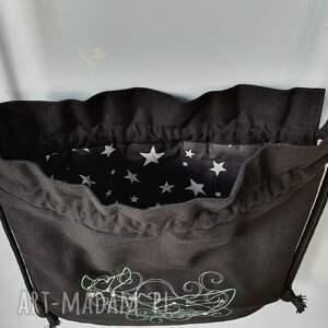 czarne worek plecak mini gwiazdozbiór