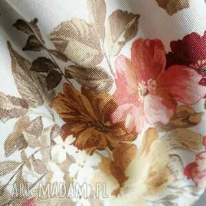 pomarańczowe worek plecak vintge kwiaty