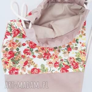 kolorowe plecaki worek plecak kwiaty
