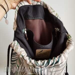 czarne worek plecak - summer vibes
