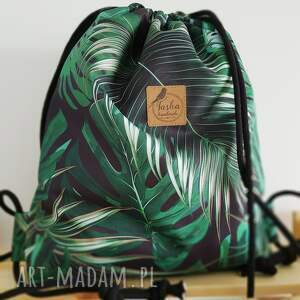 hand made plecak worek - tropikalne
