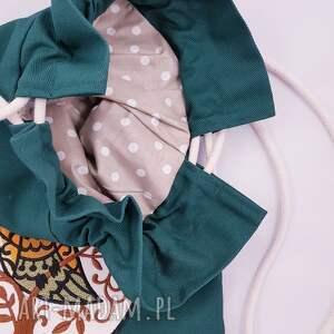 zielone worek plecak z sową
