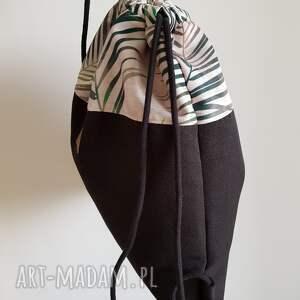 ręcznie robione plecak worek - summer vibes