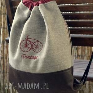 awangardowe plecak / worek - vintage bike