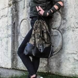 pojemny plecak worek torebka moro