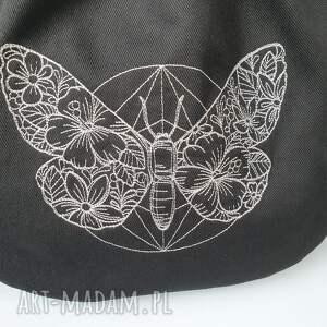 niepowtarzalne haft plecak worek mini motyl