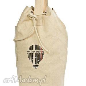 białe plecaki plecak plecak, worek bawełniany, haft kod
