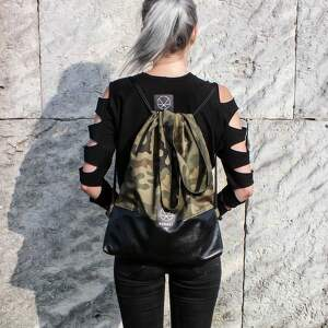 czarne khaki plecak worek torebka moro