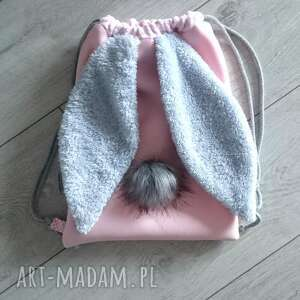 turkusowe plecaki króliczek plecak worek