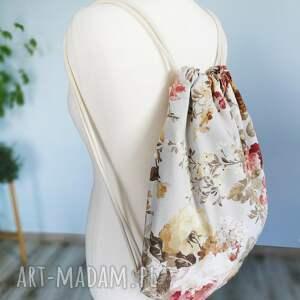 niesztampowe plecaki kwiaty plecak worek vintge