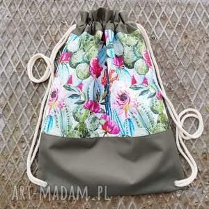 wyjątkowe plecaki plecak worek w kaktusy