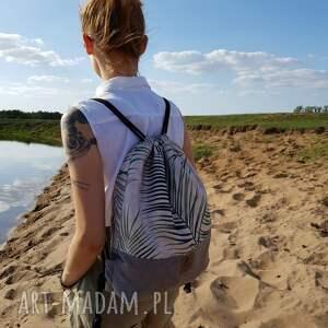 plecak brązowe worek - summer vibes