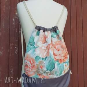 romantyczny plecak worek kwiaty