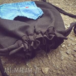 ręcznie robione plecakworek plecak worek z biedronką