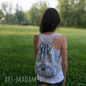 handmade plecakworek miękki plecak /worek wykonany z grubej tkaniny