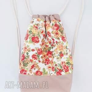 oryginalne plecaki plecak worek kwiaty