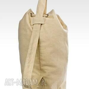 worek plecaki beżowe plecak, bawełniany, haft kod