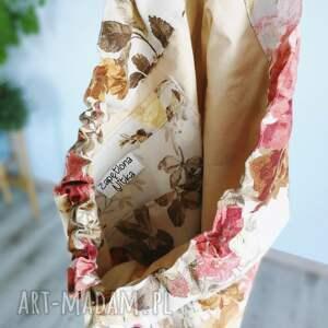 plecak worek vintge kwiaty
