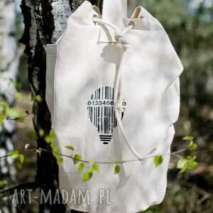 nietypowe plecaki worek plecak, bawełniany, haft kod
