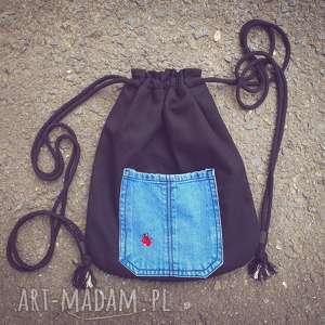 plecakworek niebieskie plecak worek z biedronką