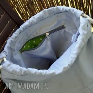 zielone monstera plecak / worek