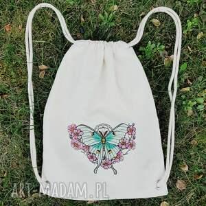 niepowtarzalne plecaki plecak z haftem ćma księżycowa