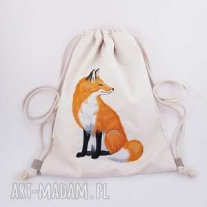 handmade plecaki plecak z lisem