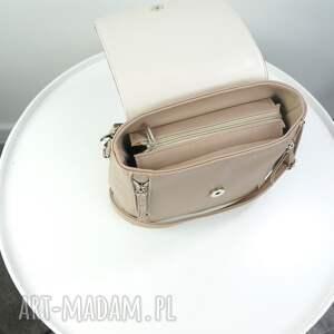torebka plecak/listonoszka beżowy