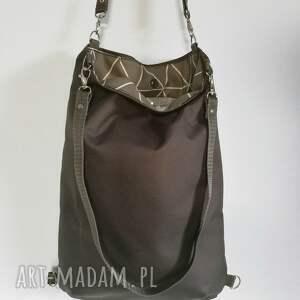 eleganckie plecaki minimalistyczna plecako torebka cordura grafitowa